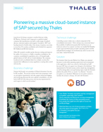 Pioneering a massive cloud-based instance of SAP secured by Thales