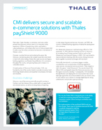CMI delivers secure and scalable e-commerce solutions with Thales payShield 9000