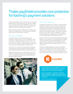 Thales payShield provides core protection for kashing's payment solutions