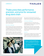 Thales prescribes performance, precision, and price for renowned drug store chain