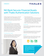 NH Bank Secures Financial Assets with Thales Authentication Solutions - Case Study