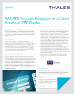SAS PCE Secures Employee and Client Access at PPF Banka - Case Study