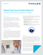 Digital Signing of Health Reports: General University Hospital in Prague - Case Study