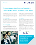 Dudley Metropolitan Borough Council Cuts Costs by Switching to SafeNet Trusted Access - Case Study