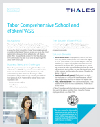 Tabor Comprehensive School and eTokenPASS - Case Study