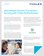 Vietcombank Ensures Transaction Security with Thales Authentication - Case Study