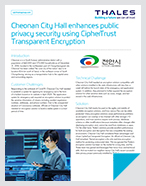 Cheonan City Hall enhances public privacy security using CipherTrust Transparent Encryption - Case Study