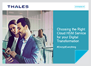 Choosing the Right Cloud HSM Service for your Digital Transformation - eBook