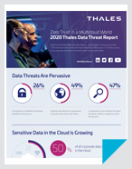 2020 Thales Data Threat Report Infographic