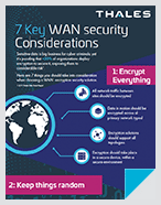 7 Key WAN security Considerations - Infographic