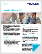 IDPrime PIV Smart Cards - Product Brief
