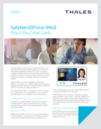 SafeNet IDPrime 3940 - Product Brief