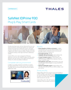 SafeNet IDPrime 930 - Product Brief