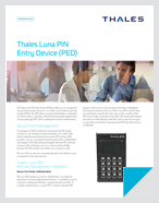 Thales Luna PIN Entry Device (PED) - Product Brief