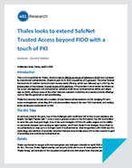 Thales looks to extend SafeNet Trusted Access beyond FIDO with a touch of PKI