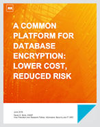A Common Platform For Database Encryption: Lower Cost, Reduced Risk - White Paper