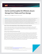 End-to-end Encryption for Efficient, Secure Storage from Thales and Pure Storage