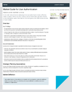 Gartner's Market Guide for User Authentication - White Paper