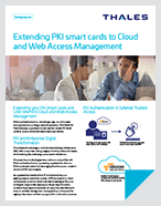 Extending PKI Smart Cards to Cloud and Web Access Management - Solution Brief