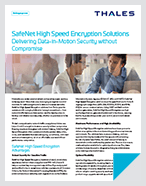 Thales High Speed Encryptors for SaaS Application Providers - Solution Brief