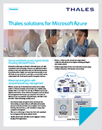 Thales Solutions For Microsoft Azure - Solution Brief