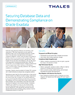 Securing Database Data and Demonstrating Compliance on Oracle Exadata - Solution Brief