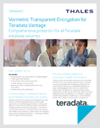 Vormetric Transparent Encryption for Teradata Vantage