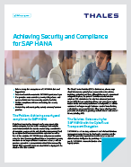 Achieving Security and Compliance for SAP HANA