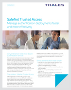 SafeNet Trusted Access - Solution Brief