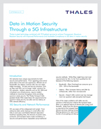 Data in Motion Security Through a 5G Infrastructure - Solution Brief