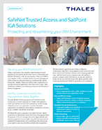 SafeNet Trusted Access and SailPoint IGA Solutions - Solution Brief