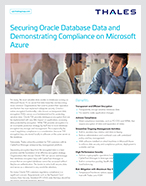 Securing Oracle Database Data and Demonstrating Compliance on Microsoft Azure - Solution Brief