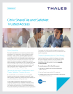 Citrix ShareFile and SafeNet Trusted Access - Solution Brief