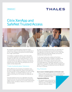 Citrix XenApp and SafeNet Trusted Access - Solution Brief