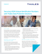 Securing UIDAI Unique Identification Numbers with Thales Data Protection Solutions - Solution Brief