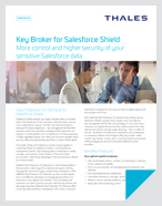 Key Broker for Salesforce Shield - Solution Brief