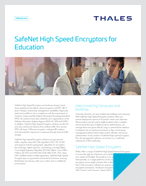SafeNet High Speed Encryptors for Education - Solution Brief