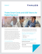 Thales Smart Cards and USB Tokens for Digital Signature - Solution Brief