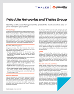 Palo Alto Networks and Thales Group - Solution Brief