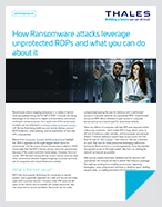 How Ransomware attacks leverage unprotected RDPs and what you can do about it - Solution Brief