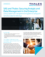 SAS and Thales: Securing Analytic and Data Management in the Enterprise - Solution Brief