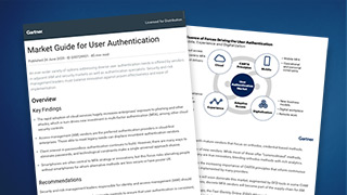 Gartner's Market Guide for User Authentication