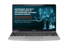Protecting Sensitive Data with EnterpriseDB Postgres Database- Webinar